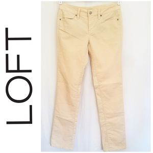 LOFT Lightweight Cream Straight Leg Corduroys